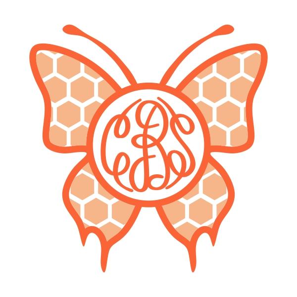 Butterflies clipart monogram. Butterfly svg cuttable frames