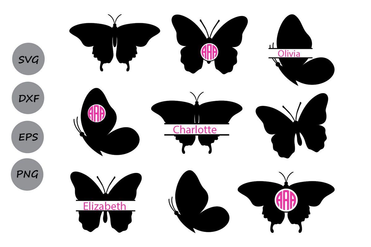 Butterfly svg design bundles. Butterflies clipart monogram