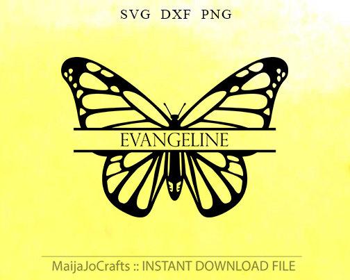 Butterfly svg dxf frames. Butterflies clipart monogram