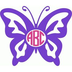 Owl with or without. Butterflies clipart monogram