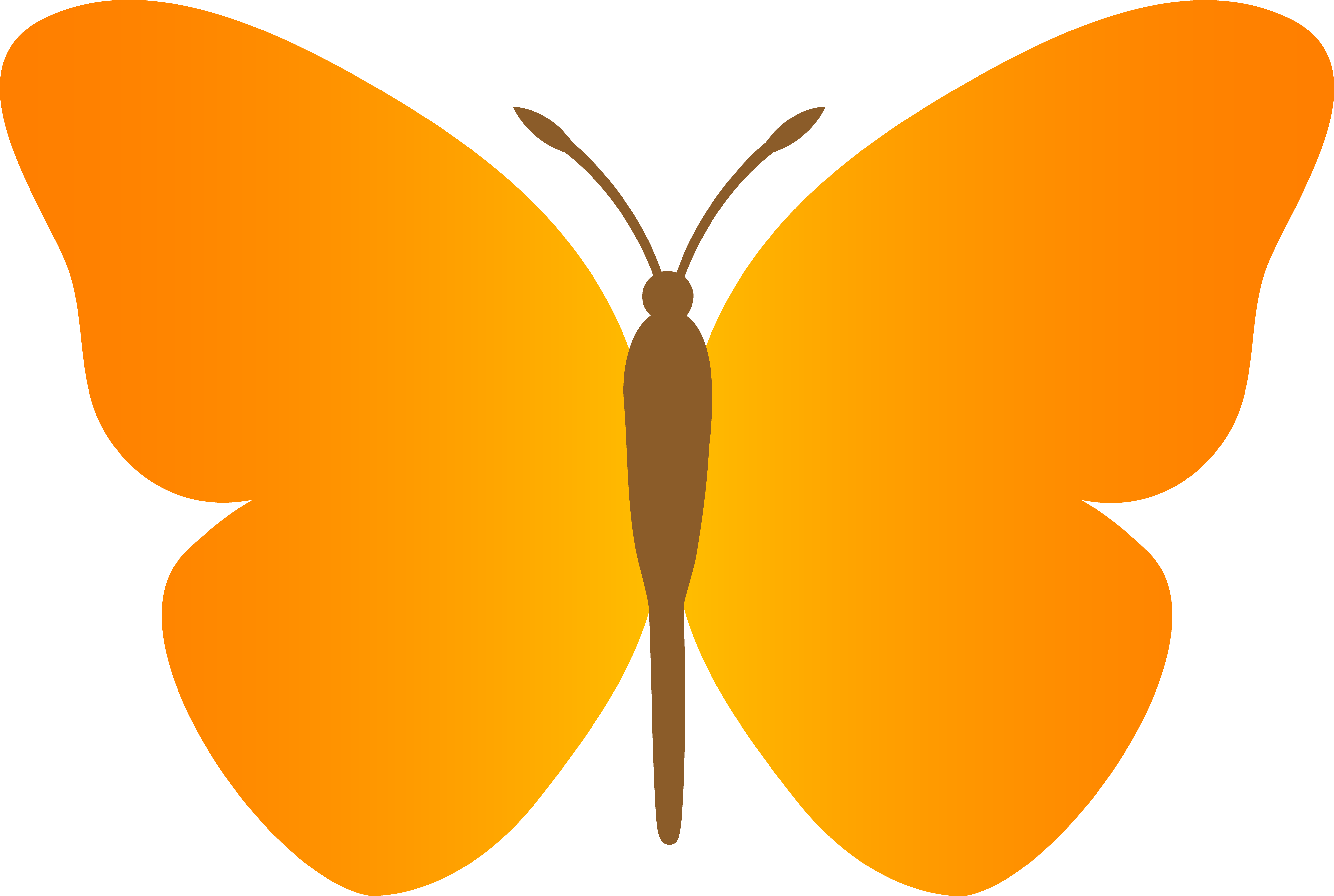 Sunny clipart blue. Simple orange butterfly free
