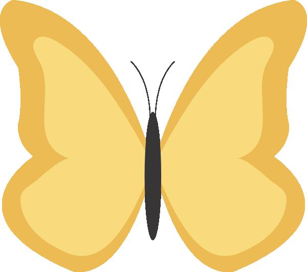 Clipart butterfly plain. Clip art at clker