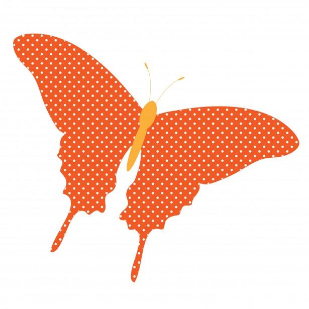 Butterfly orange dots free. Butterflies clipart polka dot