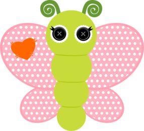 best bugs images. Butterflies clipart polka dot