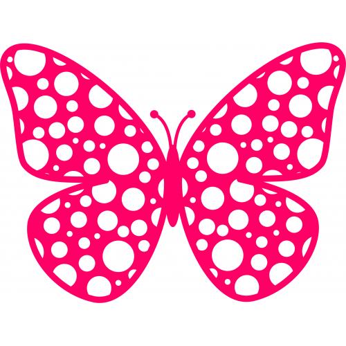 Butterflies clipart polka dot. Butterfly clip art border