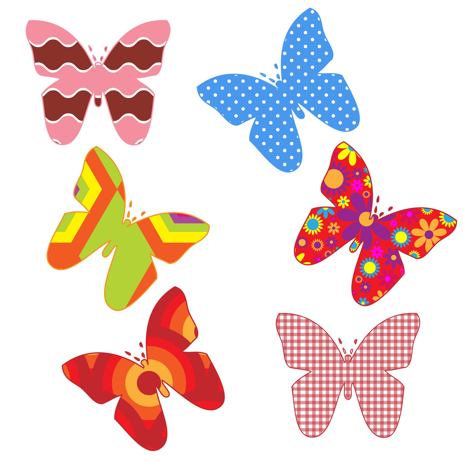 Colorful free stock photo. Butterflies clipart polka dot