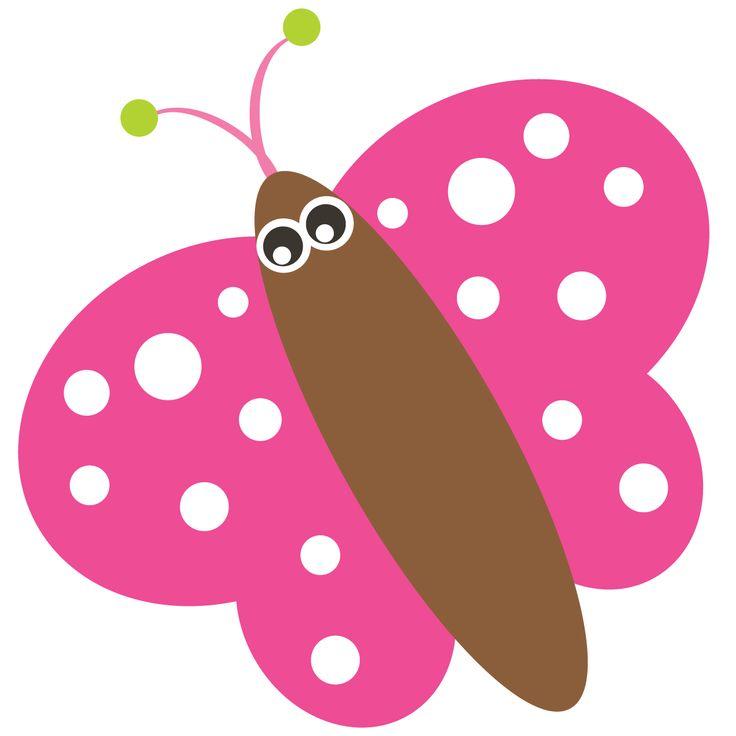 Butterflies clipart polka dot.  best butterfly images