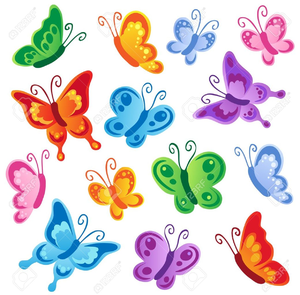 Free images at clker. Clipart butterfly printable