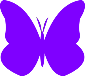 Clipart butterfly violet. Purple clip art at