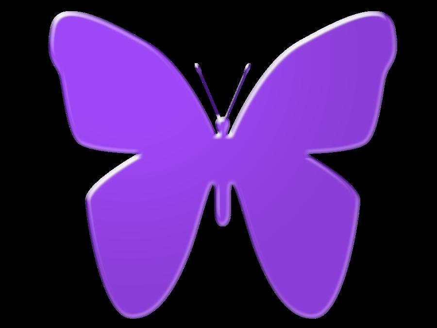 Purple clipart. Butterfly clip art by