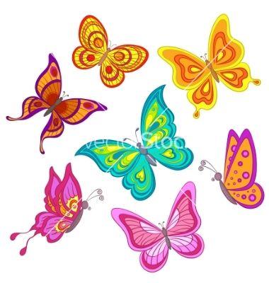 butterfly clipart scene