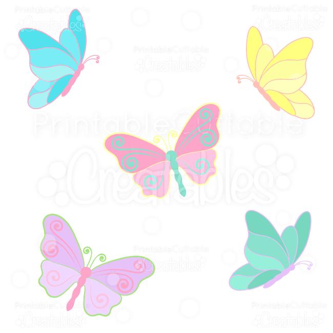 Spring butterflies svg cuts. Butterfly clipart scrapbook
