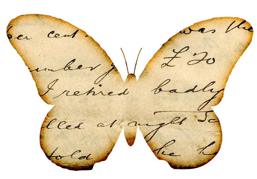Free images distressed handwriting. Butterfly clipart scrapbook