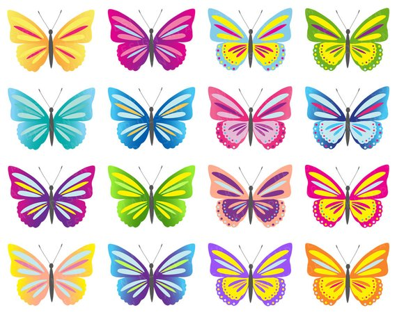 Butterfly clipart scrapbook. Clip art digital butterflies