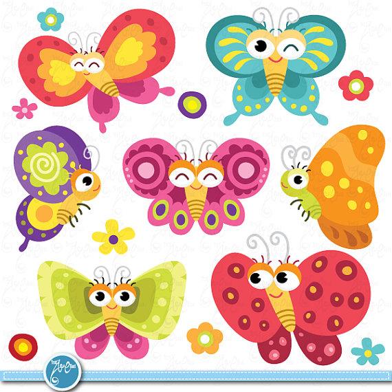 Butterflies floral colorfulbutterflies design. Cards clipart butterfly