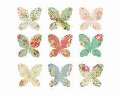 Butterfly clipart shabby chic. Pretty watercolor instant download