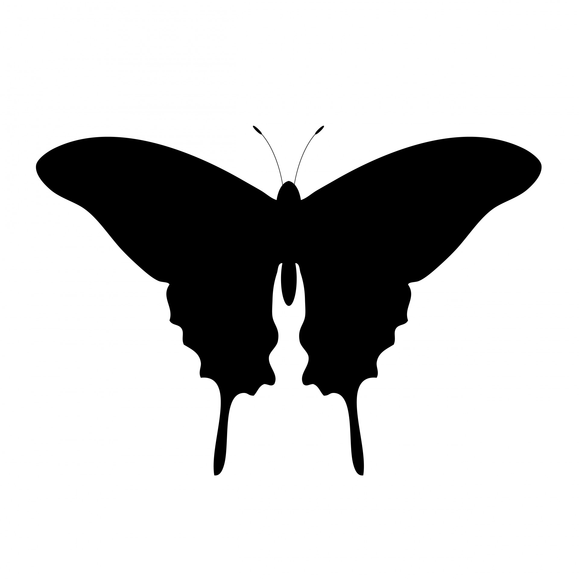 Free stock photo public. Butterfly clipart silhouette