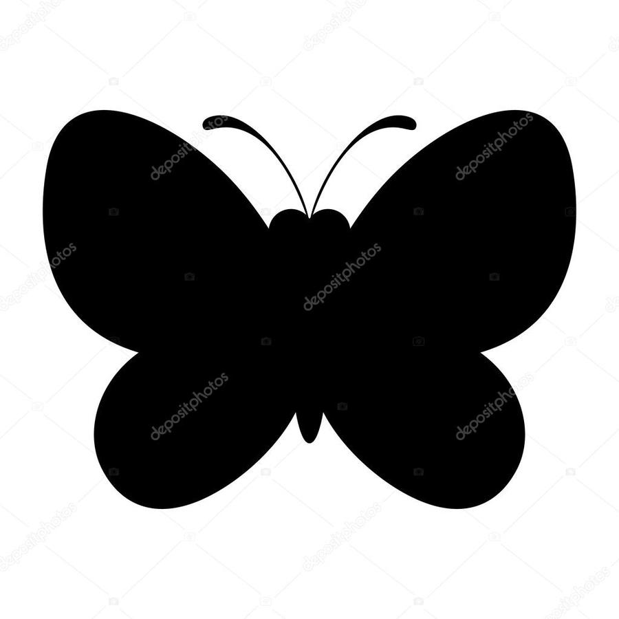 Download silhouet vlinder . Butterfly clipart silhouette