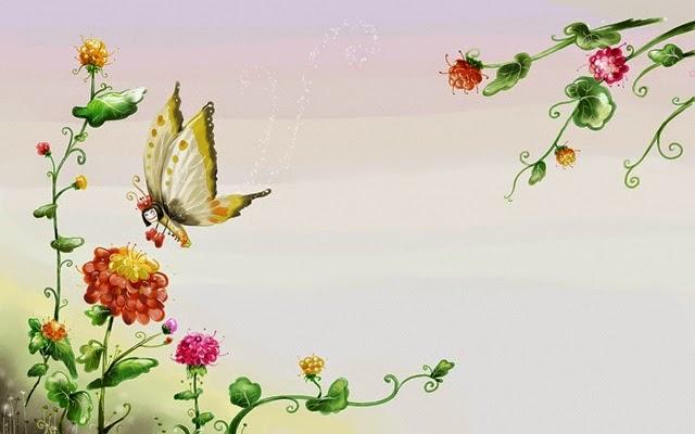 Flowers clip art many. Butterflies clipart summer flower