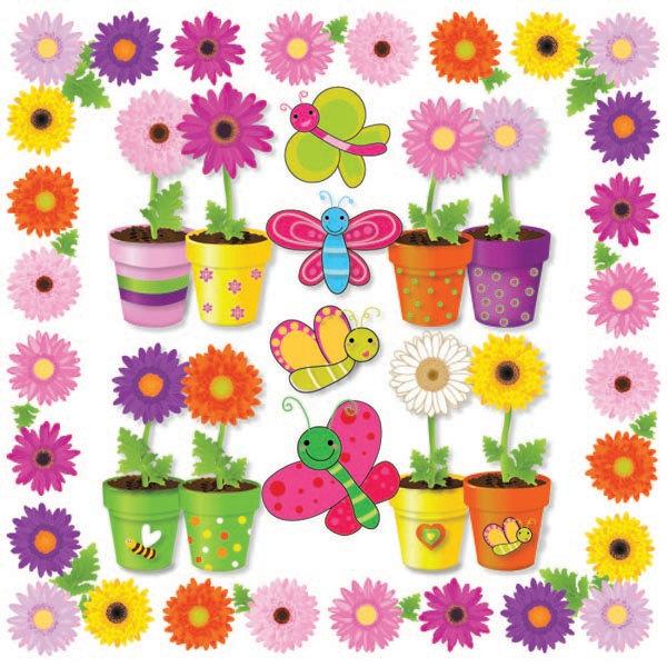 Butterflies clipart summer flower. Digital clip art flowers