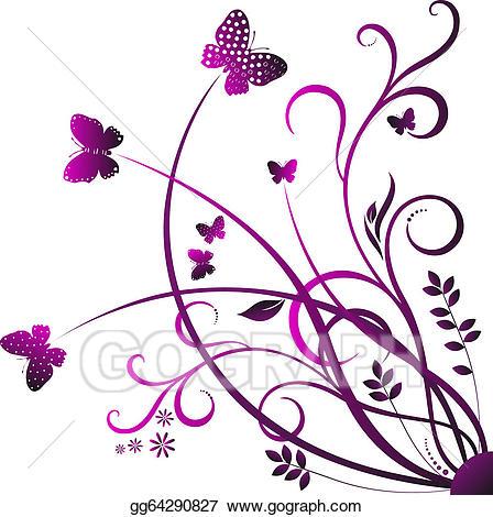 Butterflies clipart swirl. Vector illustration butterfly eps
