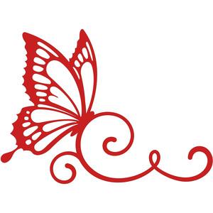 Silhouette design store view. Butterflies clipart swirl