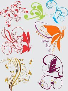 Butterflies clipart swirl.  butterfly abstract tribal