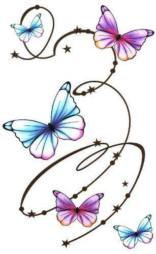 Butterfly with swirls large. Butterflies clipart swirl