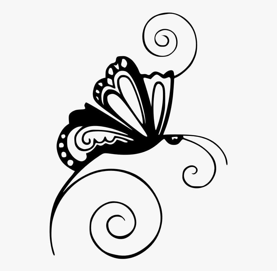 Paisley butterfly swirls with. Butterflies clipart swirl