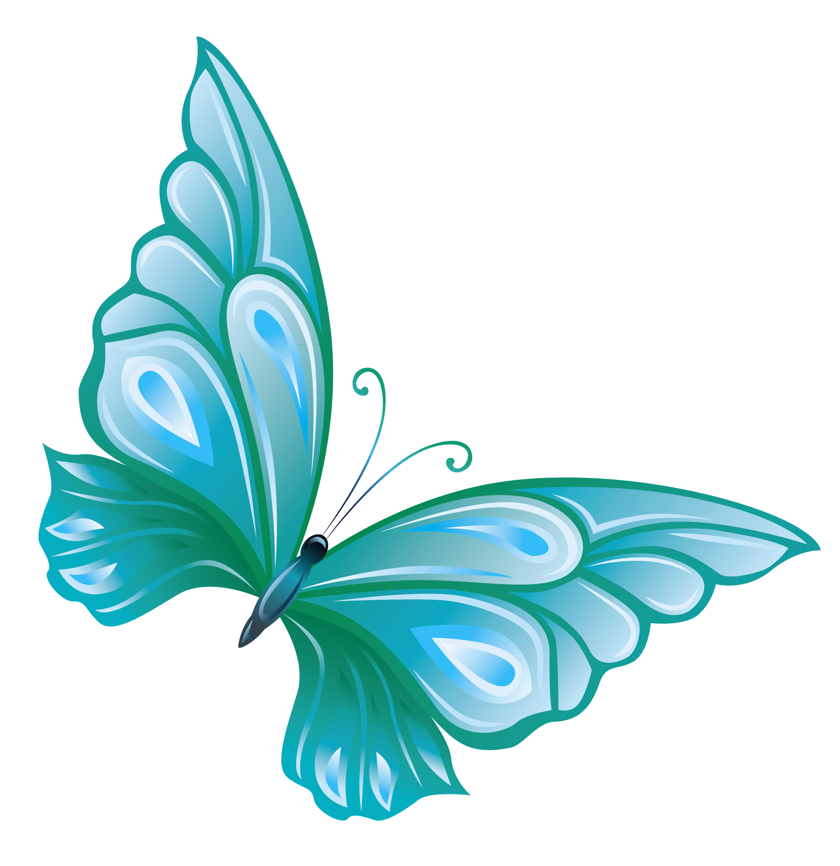 1 clipart transparent background.  collection of teal