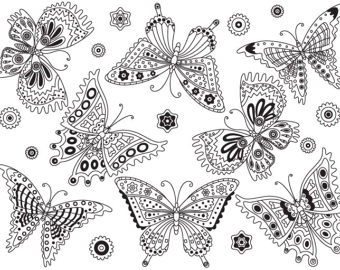 Items similar to digital. Butterfly clipart vector