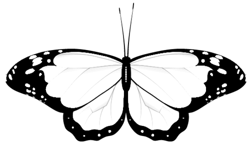 Butterfly clipart wedding. Free clip art monochrome