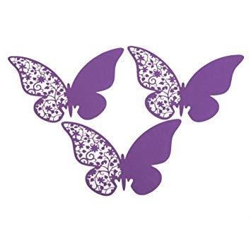 Butterflies clipart wedding. Chinatera pcs butterfly cut