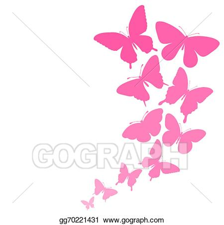 Vector art background with. Butterflies clipart wedding