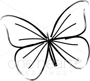 Bird and . Butterfly clipart wedding