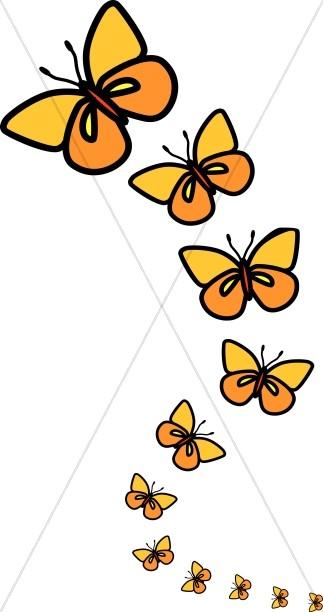 Butterflies clipart. Line of butterfly
