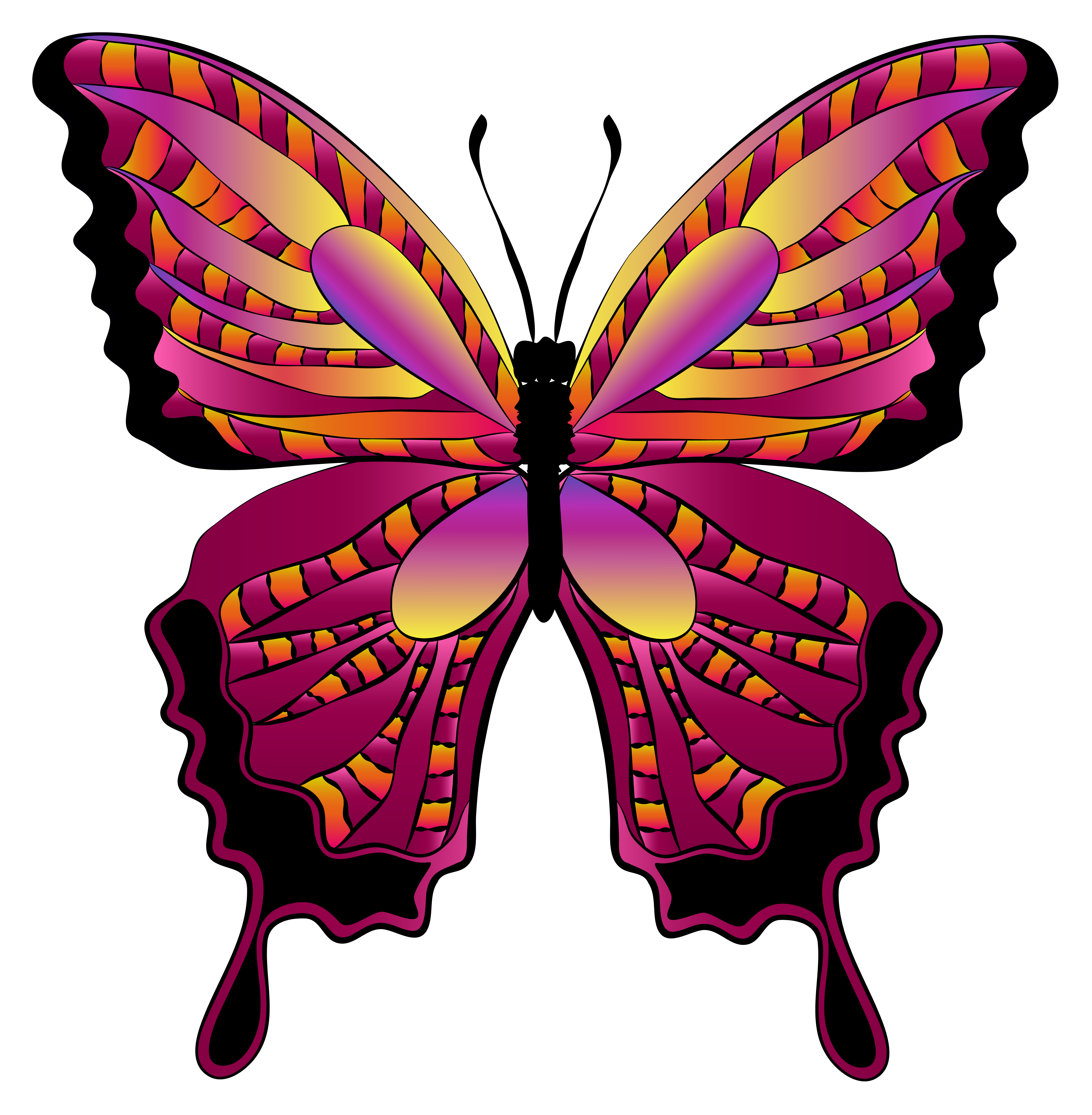 Red image gallery yopriceville. Butterfly clipart