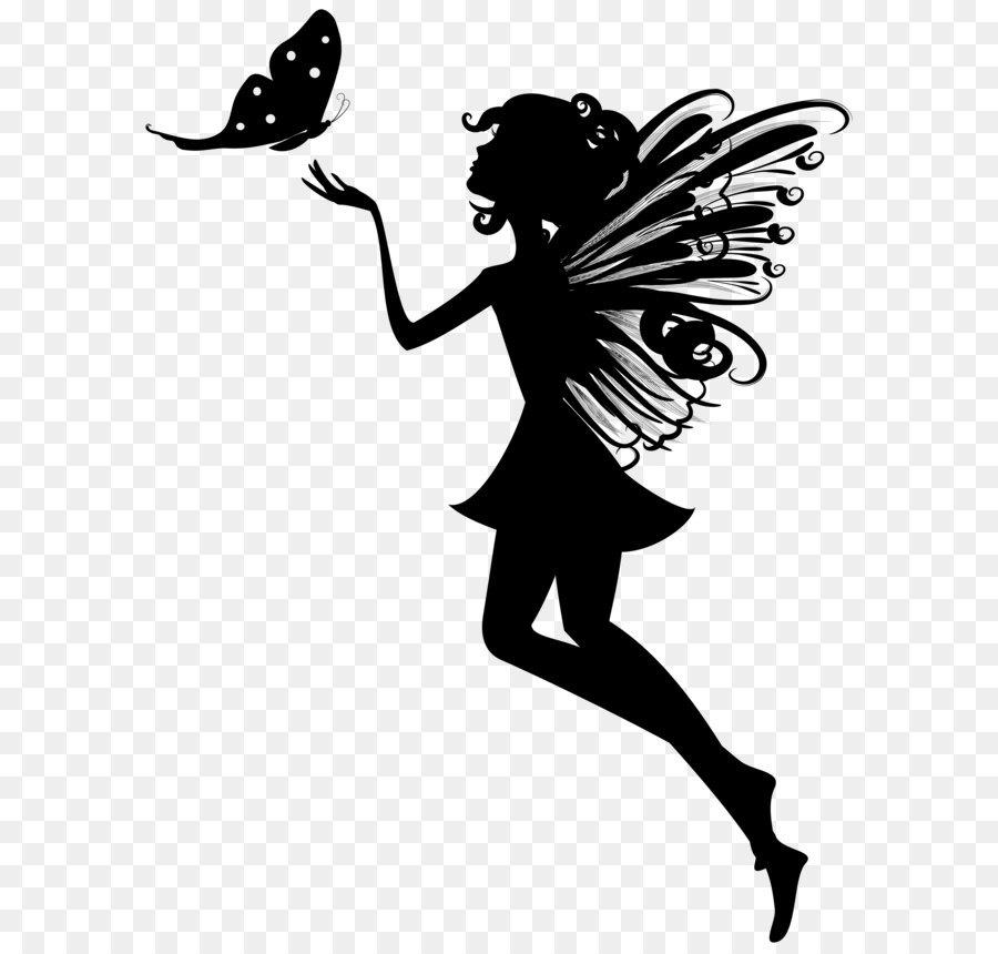 Fairy clip art silhouette. Butterfly clipart angel