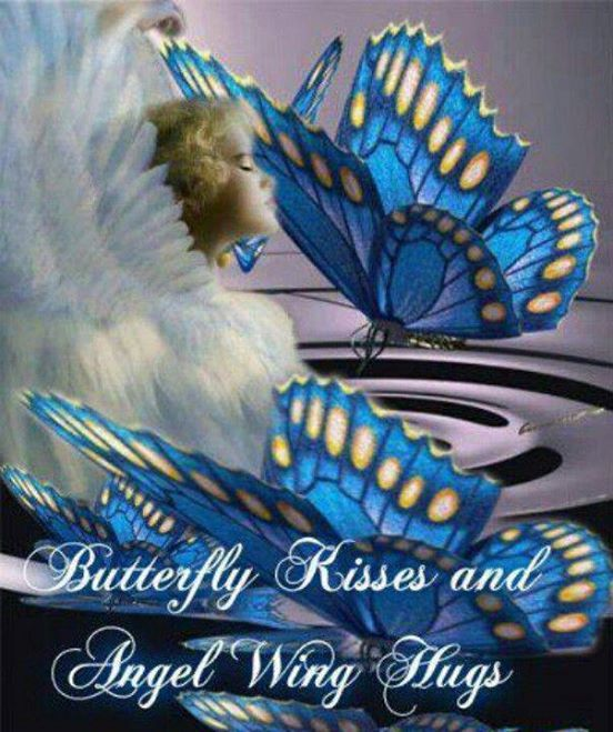 Butterfly clipart angel. Kisses and wings hugs