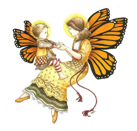 Garden angels valwebb com. Butterfly clipart angel
