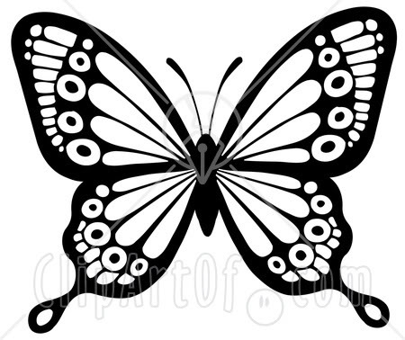 Butterfly clipart black and white. Clip art panda free