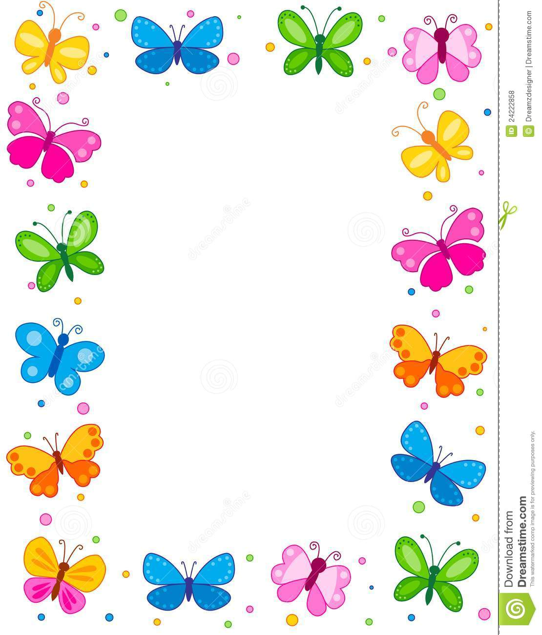 Butterfly clipart boarder. Border station
