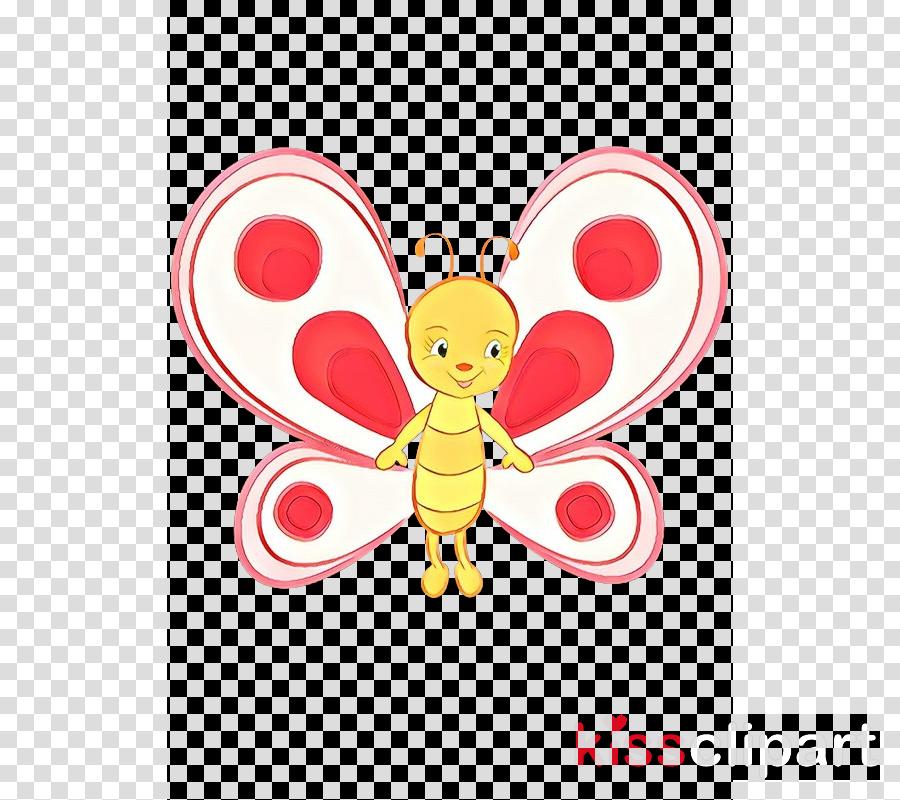 Heart clip art fictional. Butterfly clipart cartoon