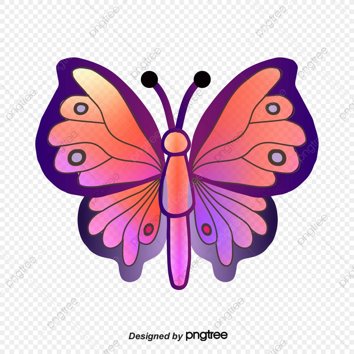 Butterfly clipart cartoon. Gradual clip art hand