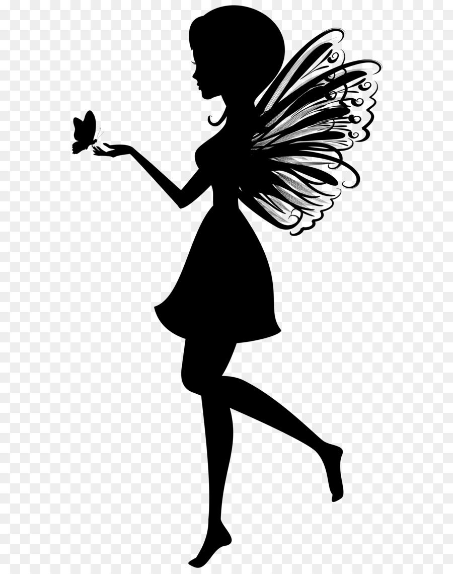 Silhouette clip art with. Butterfly clipart fairy