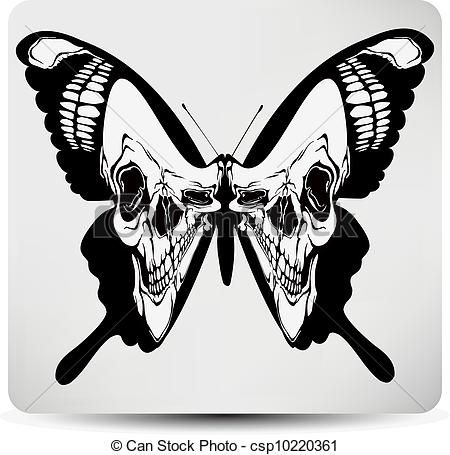 Clip art vector of. Butterfly clipart gothic