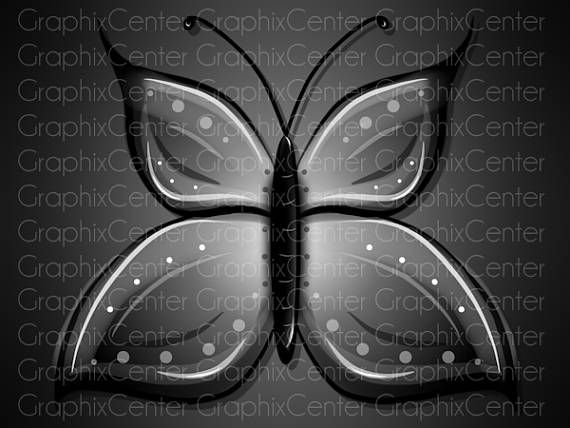 Clip art and. Butterfly clipart gothic