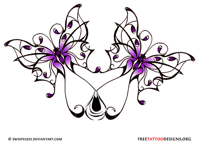 Tattoo gallery design . Butterfly clipart gothic