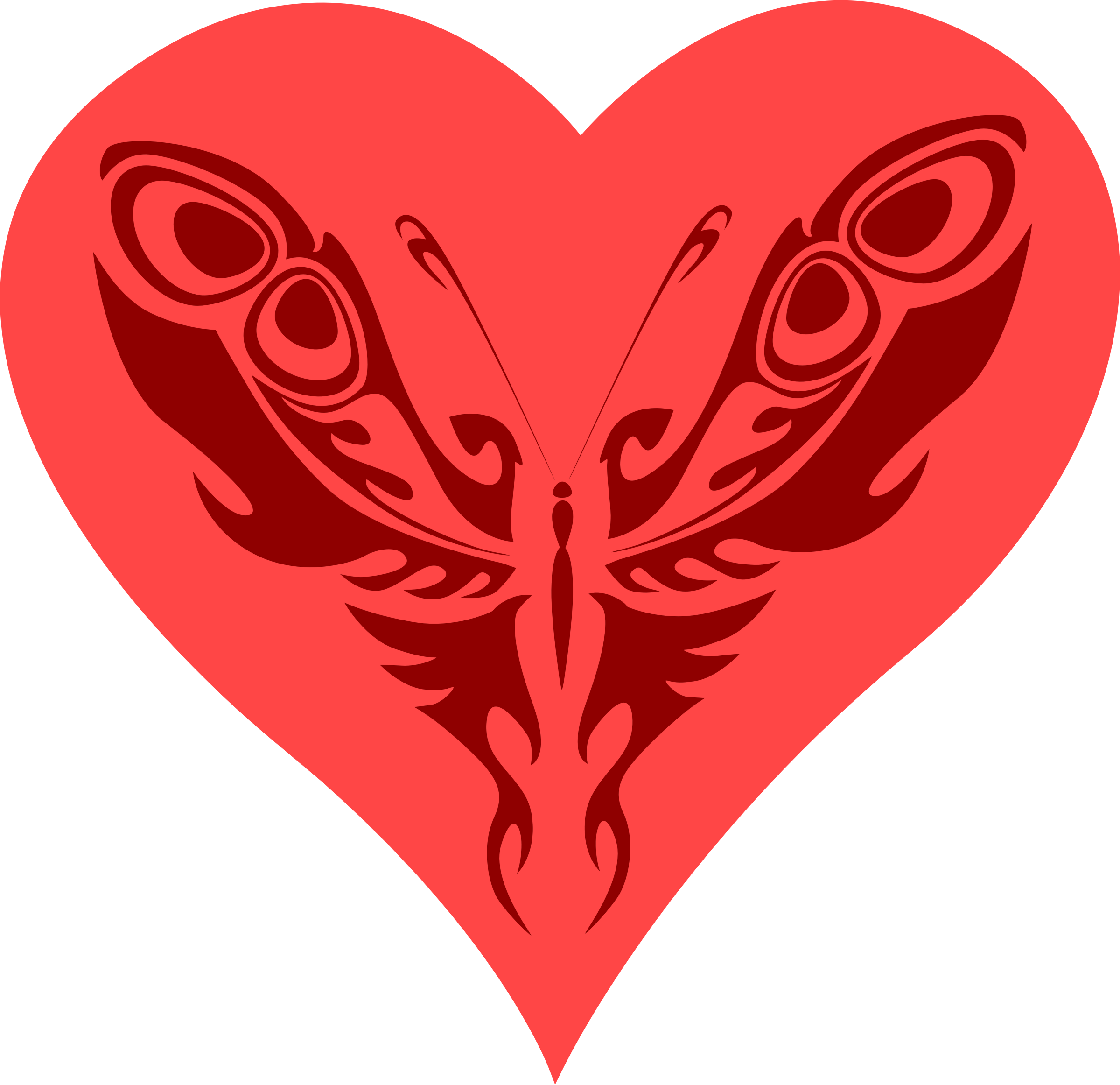 Heart clipart butterfly. Big image png