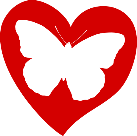 Butterfly clipart heart. On medium image png